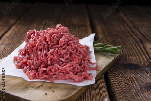 Deurstickers Vlees Minced Meat