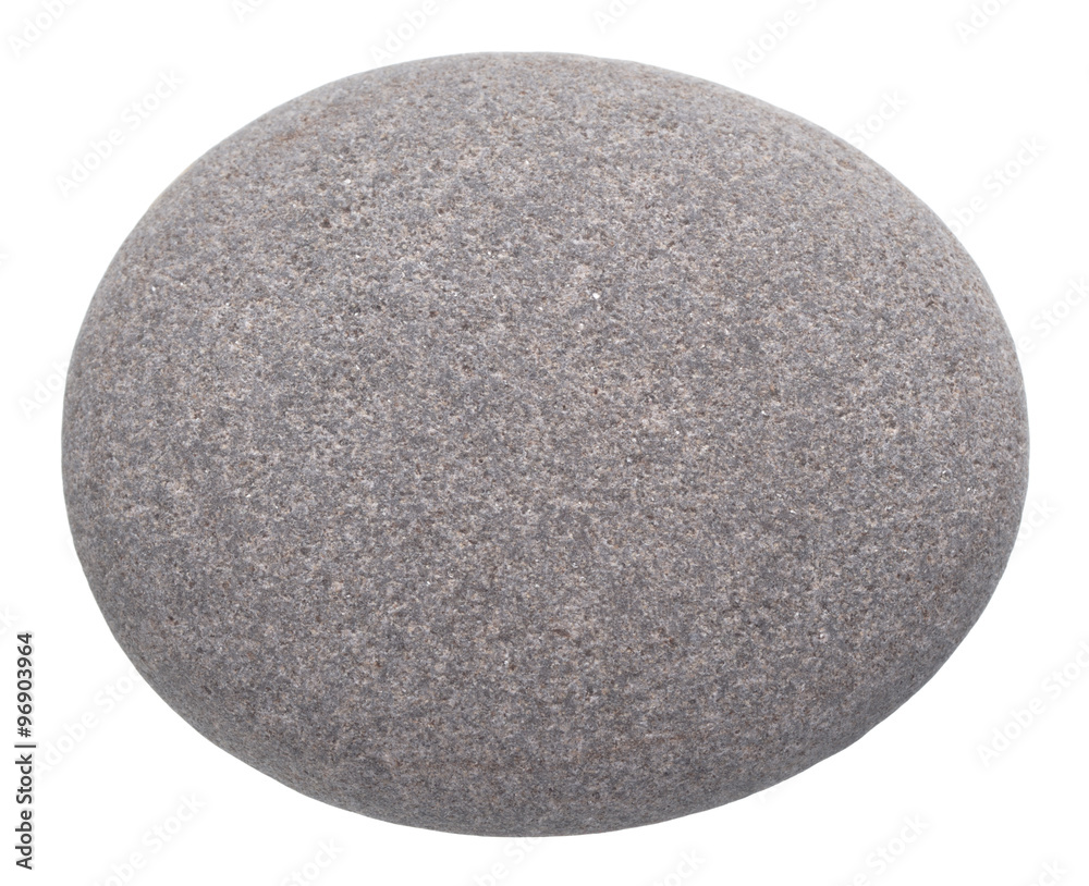 Fototapety, obrazy: rounded pebble isolated on white background