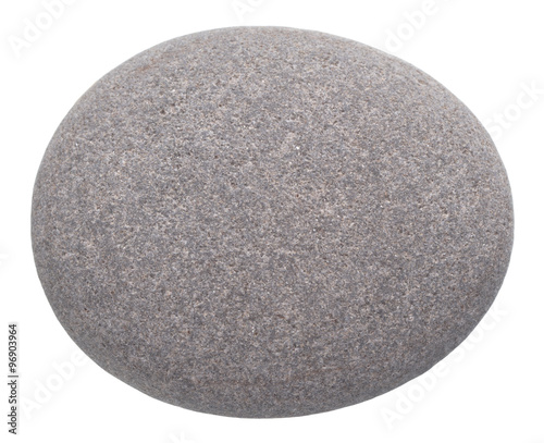 Fotografía  rounded pebble isolated on white background
