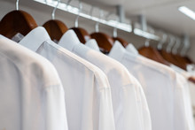 Row Of White Shirts Hanged In ...