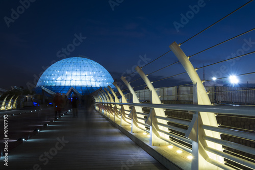 Wide View of Middle East's largest planetarium, Mina Dome In Dus
