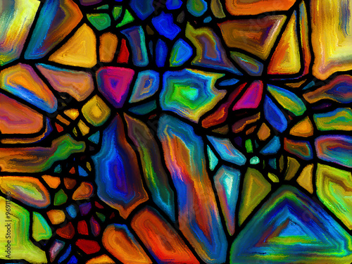 Foto auf AluDibond Klassische Abstraktion Reality of Pattern
