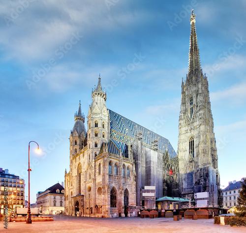 Garden Poster Vienna Vienna, St. Stephan Cathedral, Austria, nobody
