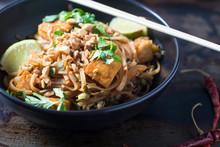 Bowl Of Pad Thai Vegetarian Noodles