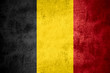 canvas print picture - flag of Belgium