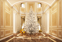 Christmas Tree In A Beautiful ...