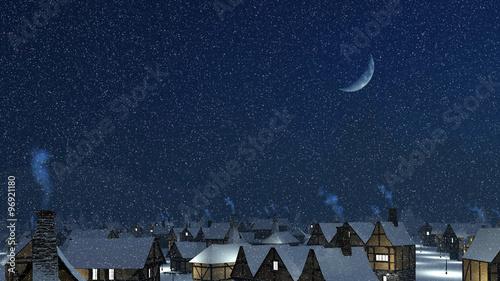 Fotografía Dreamlike winter townscape