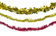 Christmas Red And Gold Tinsel