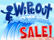 Wipe Out Sale Boy Wave