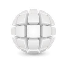 Divided White Sphere