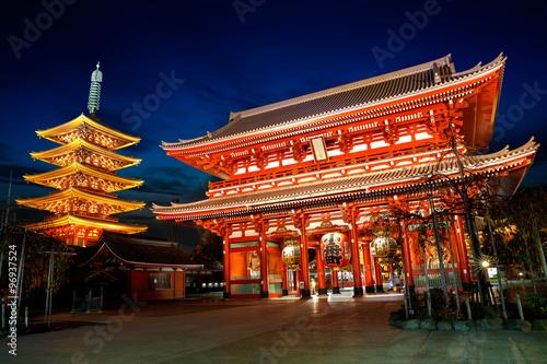 Senso-ji temple Canvas Print