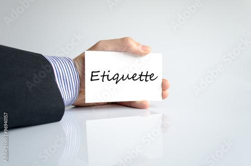 Fotografie, Obraz  Etiquette text concept