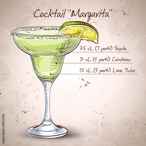 Fotografie, Obraz  Cocktail alcohol Margarita