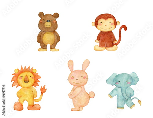 熊、猿、ライオン、兎、象 #96957716