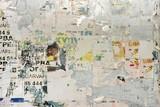Fototapeta Młodzieżowe - Urban Billboard With Old Torn Paper Posters.