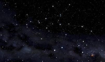 Fototapeta na wymiar Constellations of Centaurus and Wolf