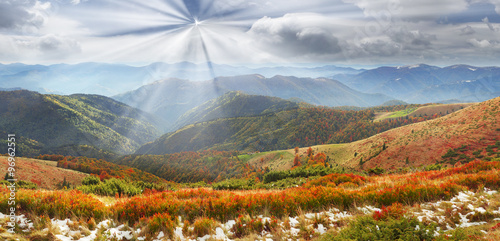 Foto op Plexiglas Crimson Golden colors of autumn