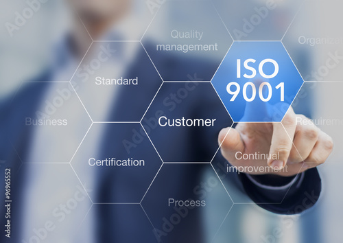 ISO 9001 standard for quality management of organizations with a Canvas Print