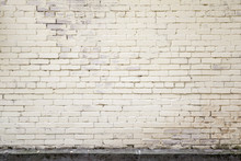 Light Yellow Old Brick Wall, Background Texture