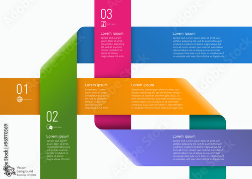 Photo  Infographic Vector Background 3-Step Process