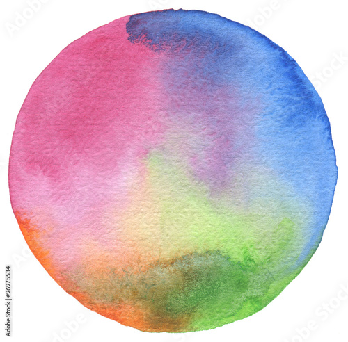 Circle watercolor painted background.