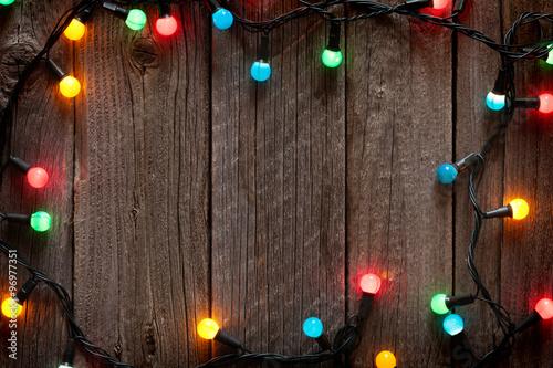 Christmas colorful lights Fototapeta