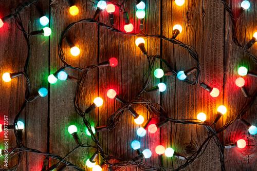 Fotografía  Luces de colores de Navidad