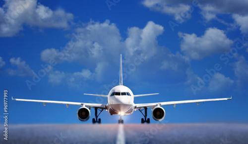 Poster Avion à Moteur Boing on runway