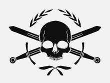 Skull And Crossed Sword Mediev...