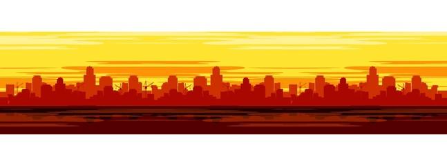 Panel Szklany cityscape background