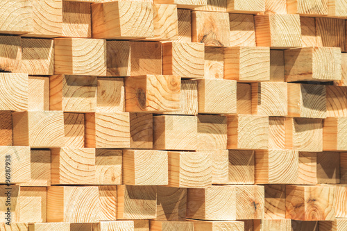 Fotografia, Obraz  wooden soundproofing. pine timber