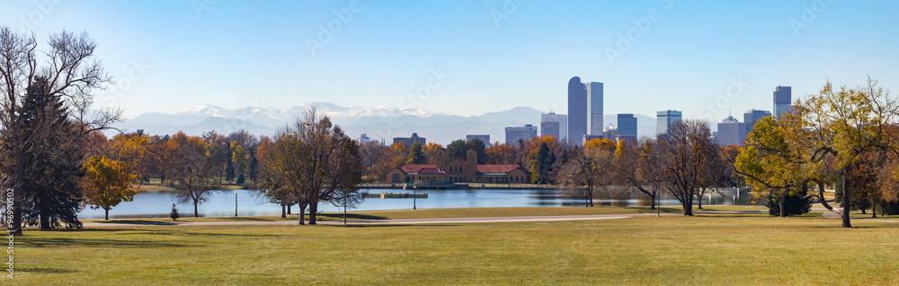 Fototapeta Denver Colorado City Park Panoramic Landscape