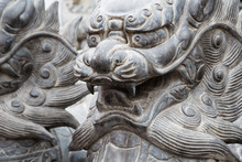 Chinese Mythological Sculptures In Stone