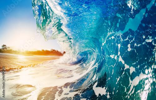 Autocollant pour porte Eau Oceaen Wave at Sunrise