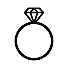 Diamond Engagement Ring Line A...