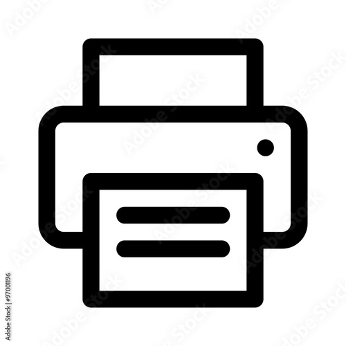 Fotomural Document desktop printer flat icon for apps and websites