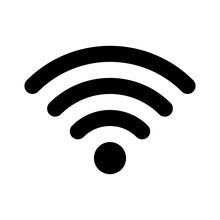 Wifi Wireless Internet Signal Flat Icon For Apps