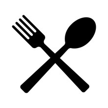 Spoon And Fork For Eating Flat...