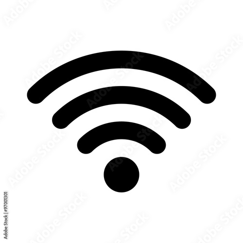 Cuadros en Lienzo  Wifi wireless internet signal flat icon for apps