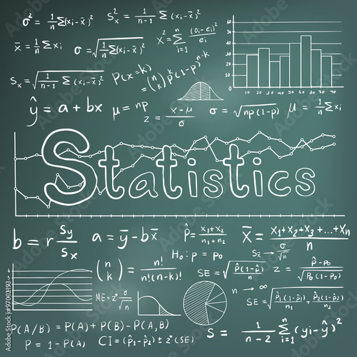 Statistic math theory formula equation doodle icon with graph chart statistic math theory formula equation doodle icon with graph chart and diagram in blackboard background ccuart
