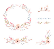 Floral Frame Collection. Set O...