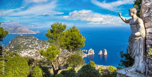 Poster de jardin Europe Méditérranéenne Capri island in Italy