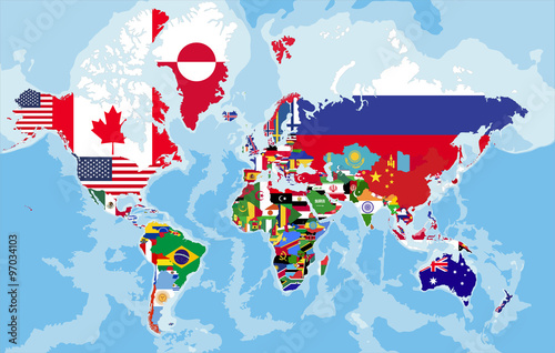 Political world map with country flags buy this stock vector and political world map with country flags gumiabroncs Choice Image