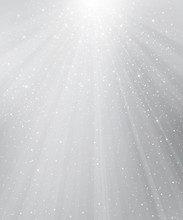 Vector Gray Background With Lights And Stars.