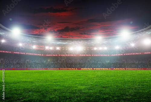 Spoed Foto op Canvas Stadion football stadium before the game