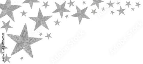 Obraz Christmas stars isolated on white  - fototapety do salonu