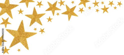 Fototapeta Christmas stars isolated on white  obraz