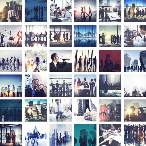 Business People Corporate Connection Greeting Collection Concept Wall mural
