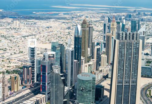 Photo  Aerial view of Dubai skyline, UAE