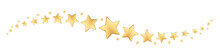 Gold Stars In Wave Pattern